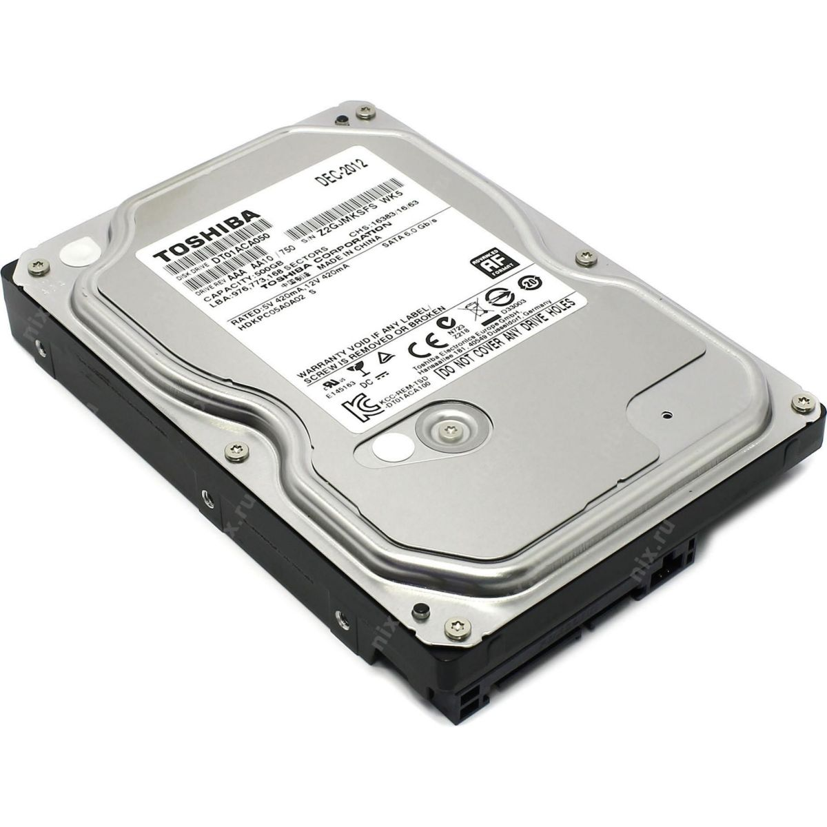 "Hdd 3.5"" Toshiba 500gb Sata3 7200rpm"