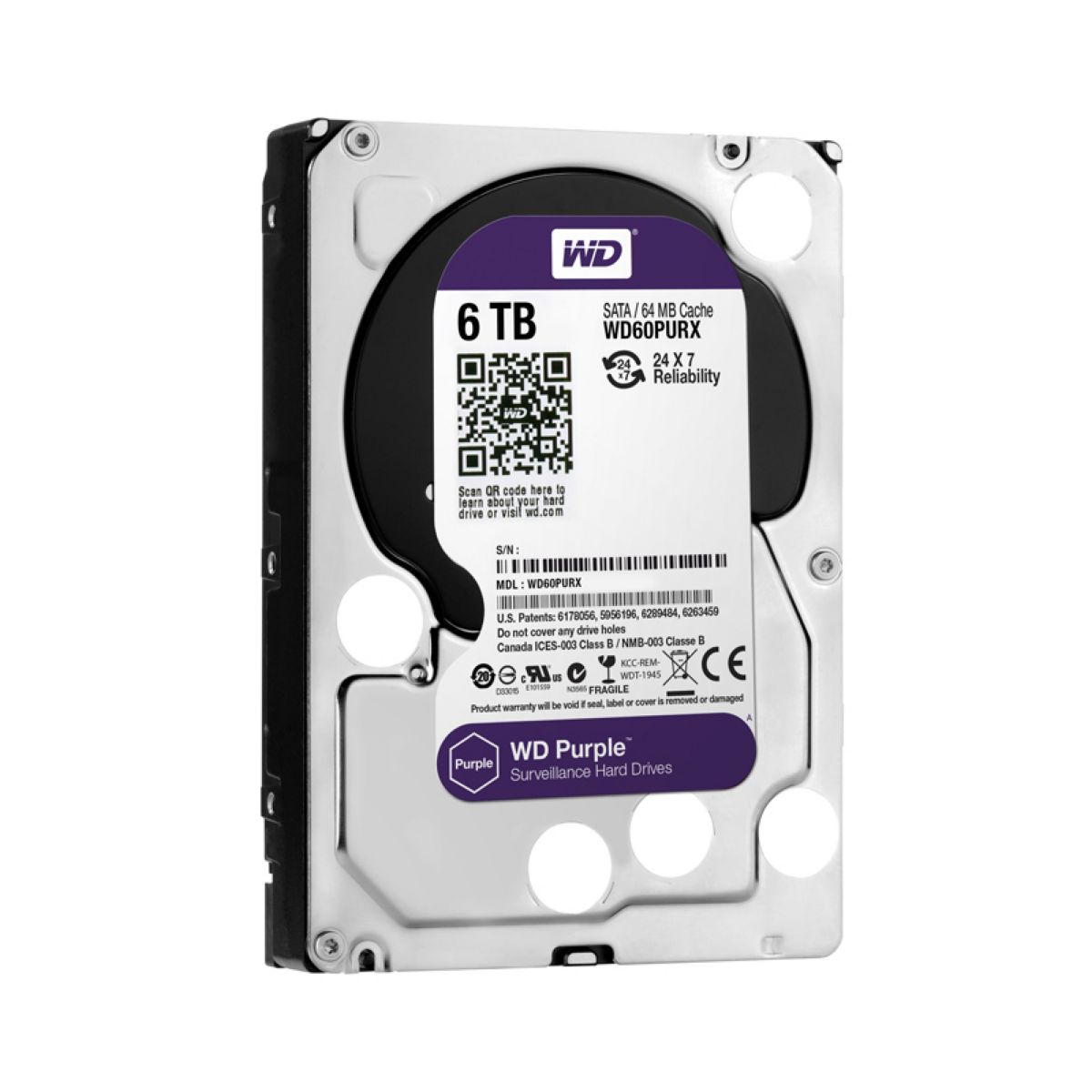 "Hdd 3.5"" Wd Purple 6t Sata3 Intellipower"