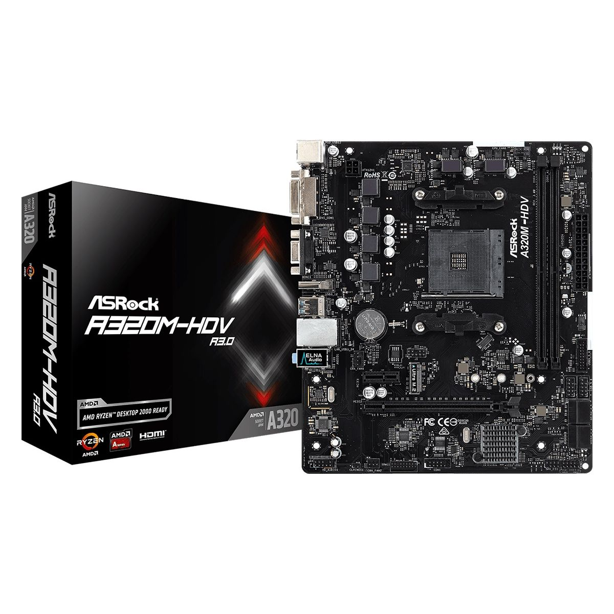 Motherboard Asrock A320m-hdv Am4 R3.0